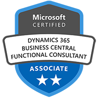 Microsoft Dynamics 365 Business Central Functional Consultant